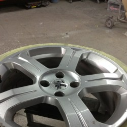 Alloy wheel refurbishment - step 1