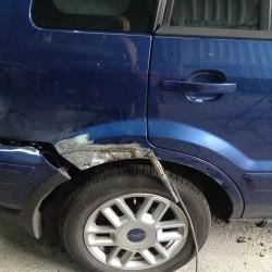 Fiesta Zetec O/S Rear Wheelarch Ripped Away from Panel