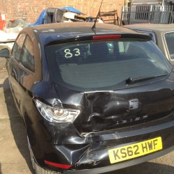 Ibiza with Heavy N/S Damage to 1/4 Panel, Lamp Panel, Inner & Outer Panel, Tailgate & Bumper