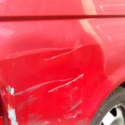 VW Transporter with Severe Damage to O/S 1/4 Panel