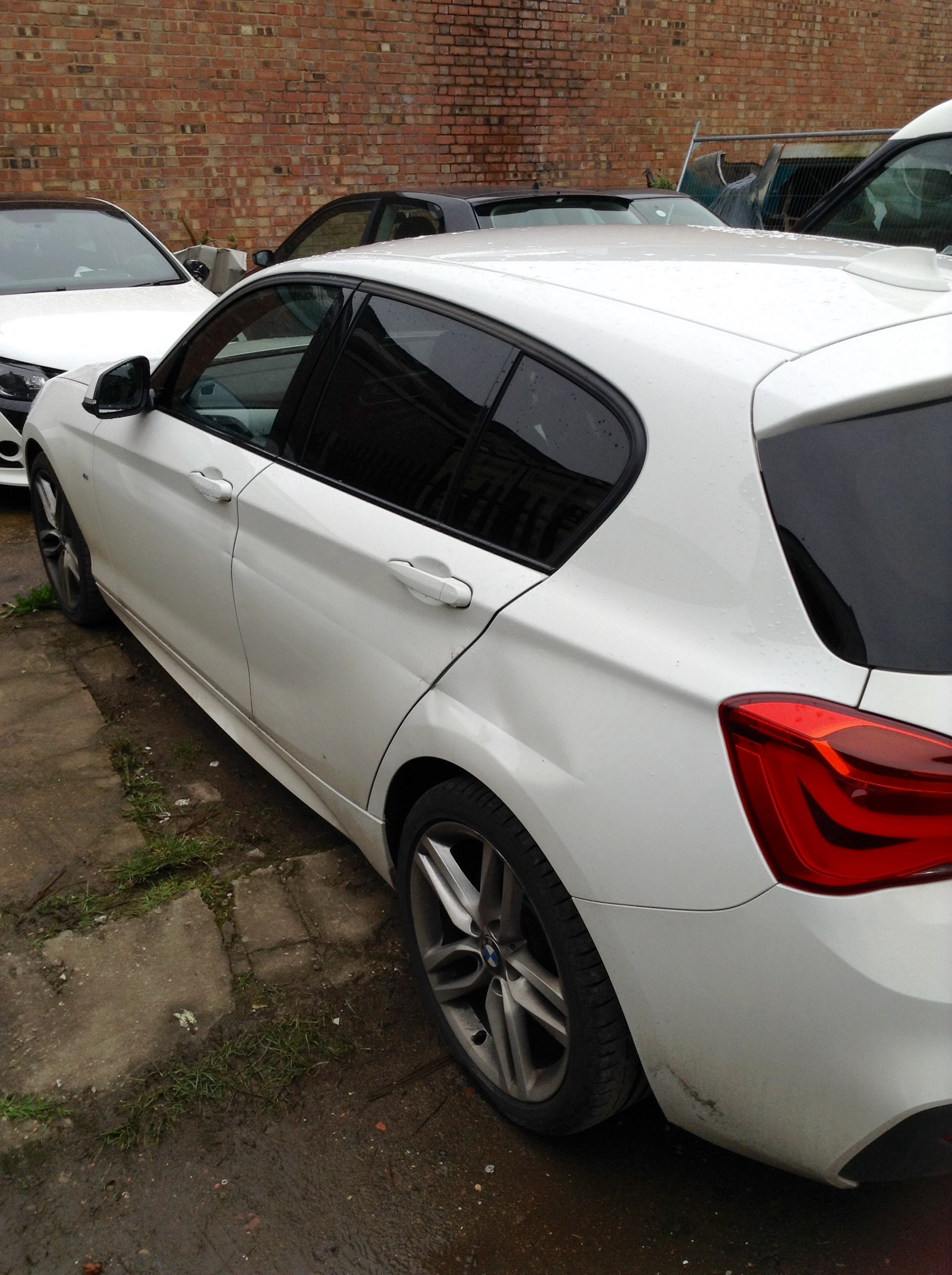 Bmw 1 Series Damage To N S Front Rear Doors 1 4 Panel Coventry Accident Body Paintless Dent Removal Repairs Ams